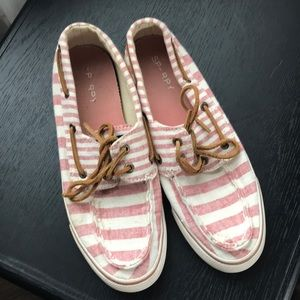 Pink Striped Sorry shoes 6.5